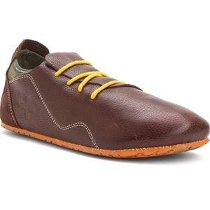 NIB OTZ Unisex Mocha Lace Up Leather Shoes